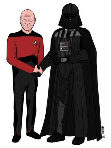 Why Can't We Be Friends? - Vader and Picard