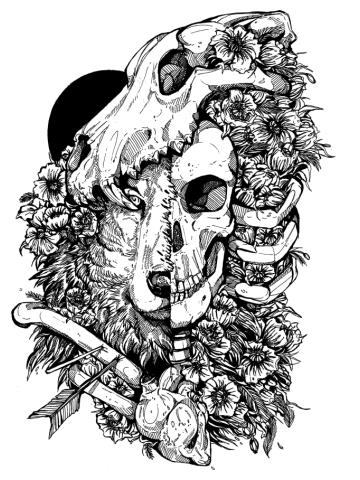 Wolf Child inks
