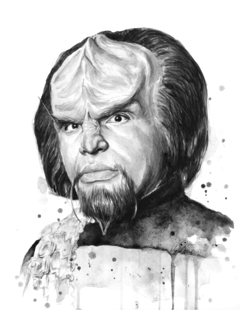 Worf Watercolor Painting